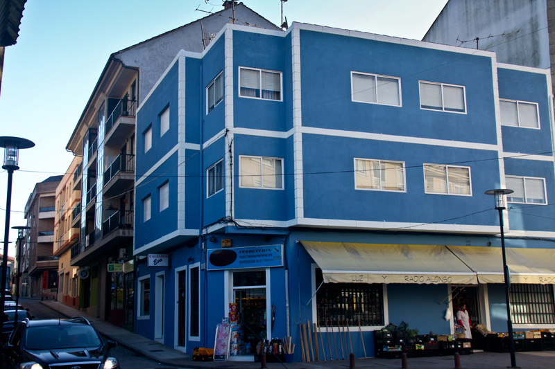 Pintado de fachada con pintura acrilica c manuel alonso gondomar dimper sldimper sl - Pintado de fachadas ...